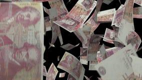 Dinero de la libra esterlina que cae ilustración del vector