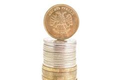 Dinero de la moneda de la rublo fotos de archivo