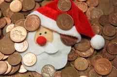 Dinero de la Navidad Imagen de archivo