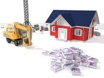 Dinero de la necesidad de la casa Imagen de archivo