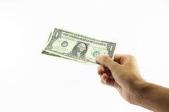 Dinero de la paga Foto de archivo
