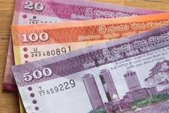 Dinero de la rupia de Sri Lanka