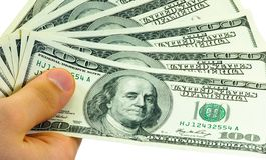 Dinero de la transferencia fotos de archivo