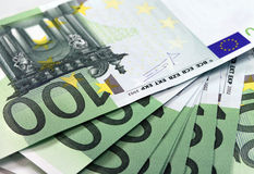 Dinero de la unión europea - euro Foto de archivo libre de regalías