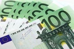 Dinero de la unión europea - euro Imagen de archivo