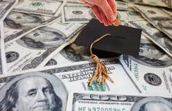 Dinero de la universidad Imagen de archivo