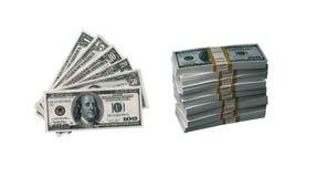 Dinero de los E.E.U.U. - 100 dólares americanos Fotos de archivo