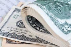 Dinero de los E.E.U.U. Imagen de archivo