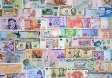 Dinero de los países diferentes Imagen de archivo