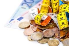 Dinero de medición Fotos de archivo
