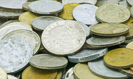 Dinero de metal viejo Imágenes de archivo libres de regalías
