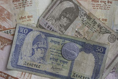 Dinero de Nepal Imágenes de archivo libres de regalías