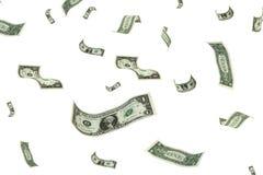 Dinero de Raning Fotografía de archivo