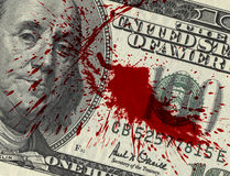 Dinero de sangre foto de archivo libre de regalías