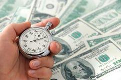Dinero de trabajo rápido foto de archivo libre de regalías