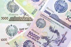 Dinero de Uzbekistán, un fondo fotos de archivo libres de regalías