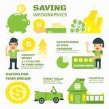 Dinero del ahorro stock de ilustración