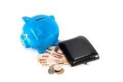 Dinero del ahorro para el mejor futuro Foto de archivo libre de regalías