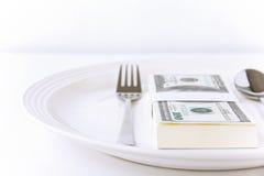 Dinero del alimento Fotos de archivo libres de regalías