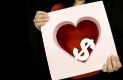 Dinero del amor Imagen de archivo libre de regalías