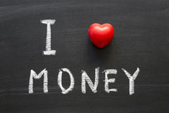 Dinero del amor Foto de archivo libre de regalías