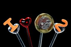 Dinero del amor también Fotos de archivo libres de regalías