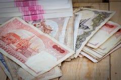 Dinero del baht tailandés foto de archivo