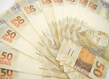 Dinero del Brasil Fotografía de archivo