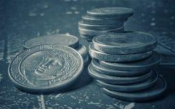 Dinero del Brasil, monedas del Brasil, centavos imágenes de archivo libres de regalías