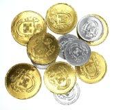 Dinero del chocolate de los niños fotografía de archivo