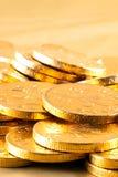 Dinero del chocolate del oro Foto de archivo libre de regalías