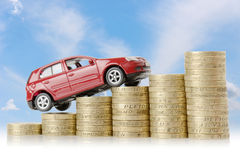 Dinero del coche Fotos de archivo