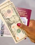 Dinero del día de fiesta. Fotografía de archivo