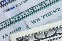 Dinero del dólar Fotos de archivo