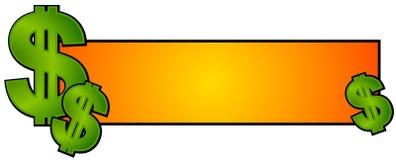 Dinero del efectivo de la insignia del Web page Imágenes de archivo libres de regalías