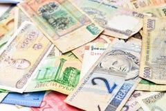 Dinero del efectivo del fondo de los países diferentes imagen de archivo