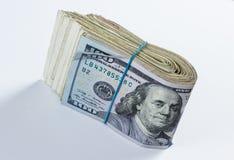 Dinero del efectivo sobre blanco fotos de archivo