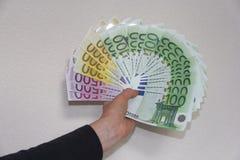 Dinero del EUR Imagen de archivo