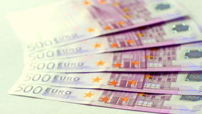 dinero del euro 500 Imagenes de archivo