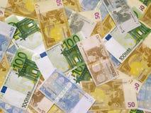 Dinero del euro del fondo Foto de archivo libre de regalías