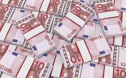 Dinero del euro 10 fondo euro del efectivo Billetes de banco euro del dinero ilustración del vector