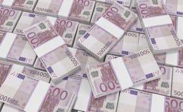 dinero del euro 500 fondo euro del efectivo Billetes de banco euro del dinero stock de ilustración