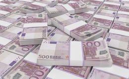 dinero del euro 500 fondo euro del efectivo Billetes de banco euro del dinero libre illustration