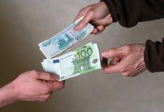 Dinero del intercambio fotos de archivo