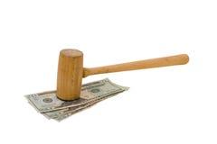 Dinero del juicio Fotografía de archivo libre de regalías