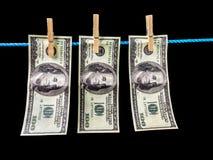 Dinero del lavadero Imagen de archivo libre de regalías
