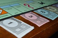 Dinero del monopolio imagen de archivo libre de regalías