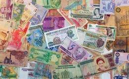 Dinero del mundo Foto de archivo libre de regalías