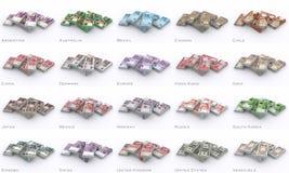 Dinero del mundo Imagen de archivo