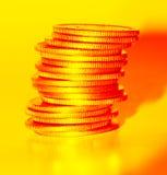 Dinero del oro Imagen de archivo libre de regalías